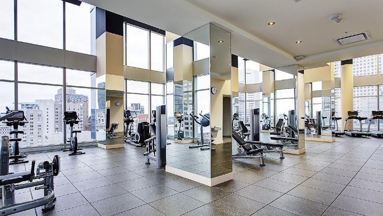 Gym at Le V Apartments - Citybase Apartments