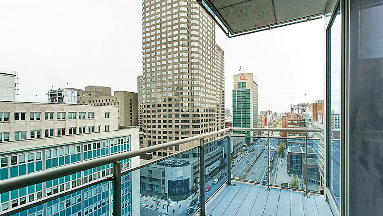Balcony at Le V Apartments - Citybase Apartments