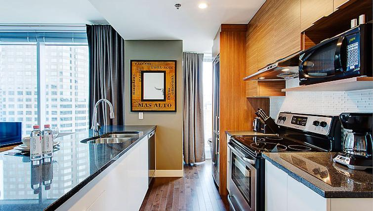 Kitchen at Le V Apartments - Citybase Apartments