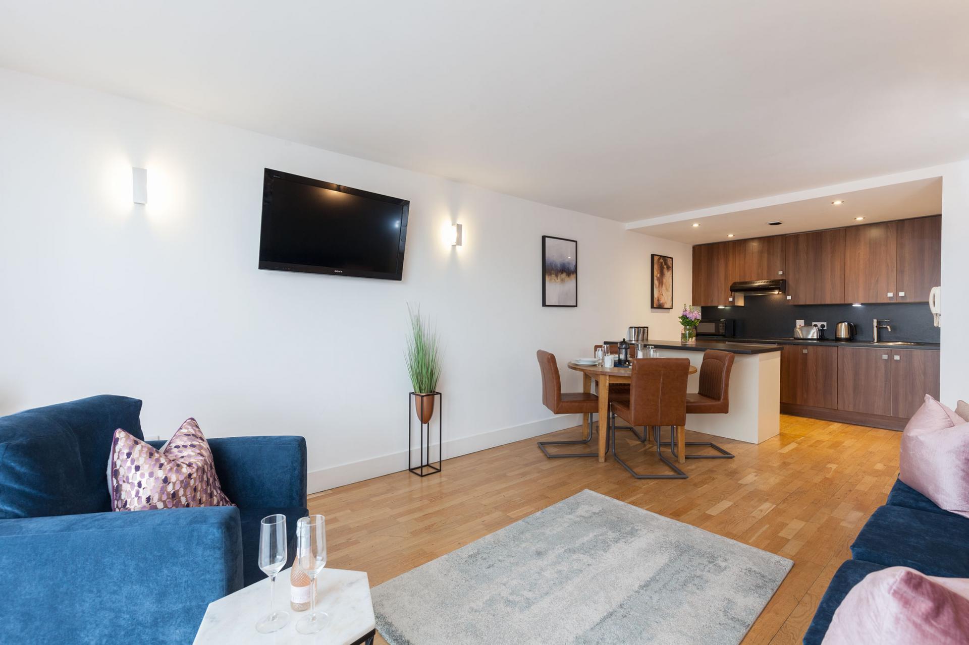 Open-plan at Sinclair Apartments, Centre, Sheffield - Citybase Apartments