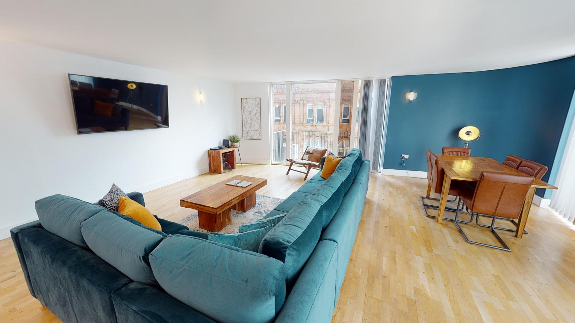 TV at Sinclair Apartments, Centre, Sheffield - Citybase Apartments