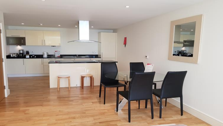 Dining area at the Still Life Canary Wharf Executive - Citybase Apartments