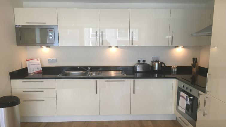 Kitchen at the Still Life Canary Wharf Executive - Citybase Apartments