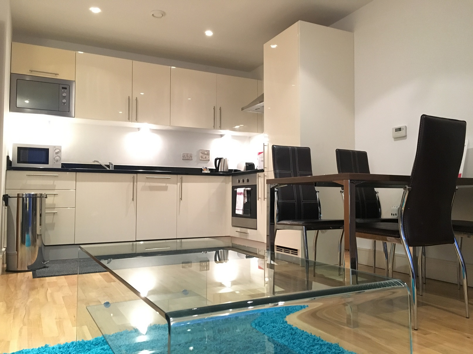 Modern living area at Still Life Canary Wharf Executive - Citybase Apartments