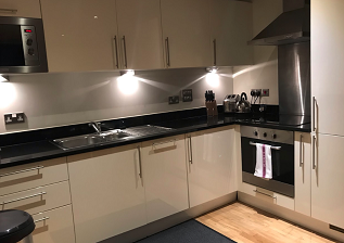 Kitchen facilities at  Still Life Canary Wharf Executive - Citybase Apartments