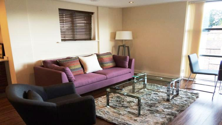 Living area at Victor Street Apartment - Citybase Apartments