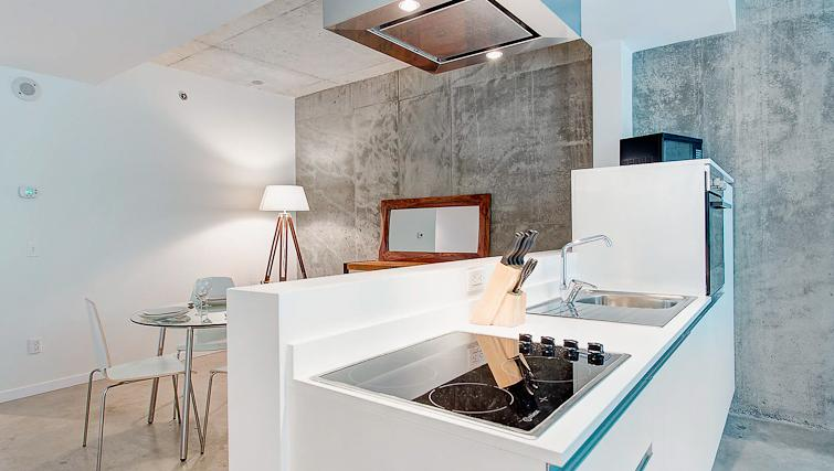 Open plan kitchen at Loft Apartments - Citybase Apartments