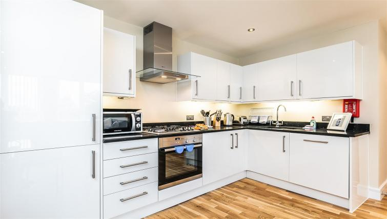 Fully equipped kitchen at Flying Butler Gayton Road Apartments - Citybase Apartments