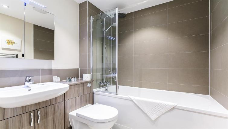 Bathroom at  Flying Butler Gayton Road Apartments - Citybase Apartments