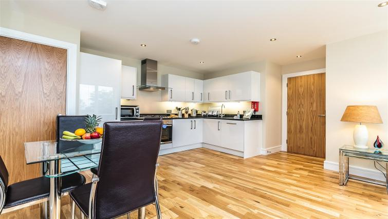 Kitchen at Flying Butler Gayton Road Apartments - Citybase Apartments