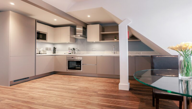 Equipped kitchen at Friar House Apartments - Citybase Apartments