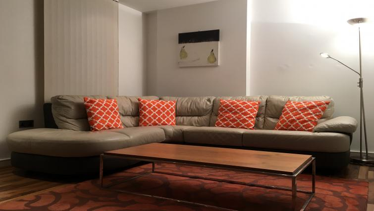 Corner sofa at Still Life King's Cross - Citybase Apartments