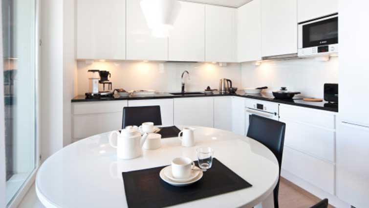 Modern kitchen at Aallonkoti Hotel Apartments - Citybase Apartments