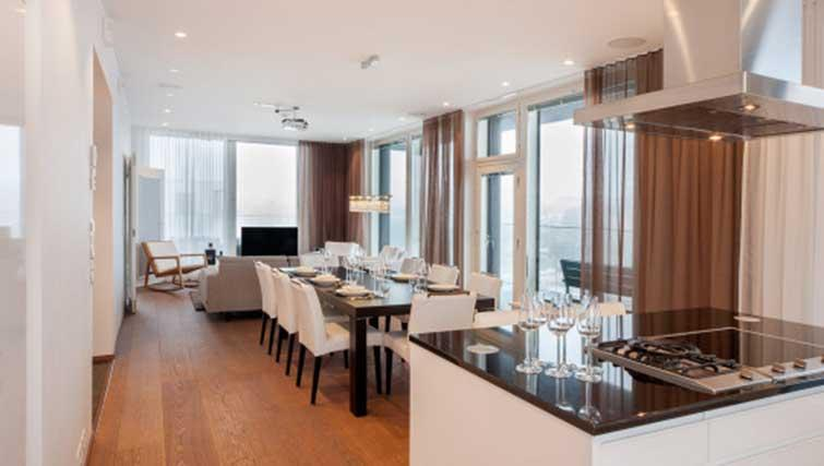 Living/dining area at Aallonkoti Hotel Apartments - Citybase Apartments