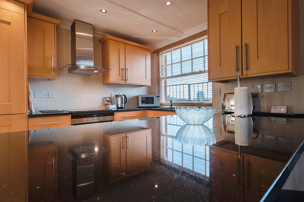 Kitchen at No.1 The Mansions Apartments, Earls Court, London - Citybase Apartments