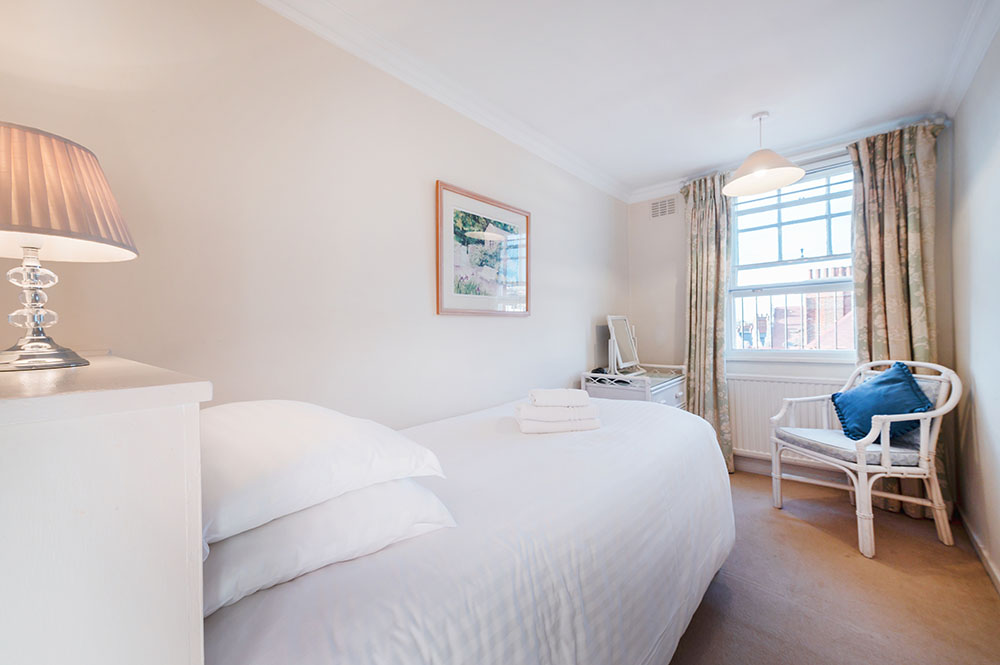 Bedroom at No.1 The Mansions Apartments, Earls Court, London - Citybase Apartments