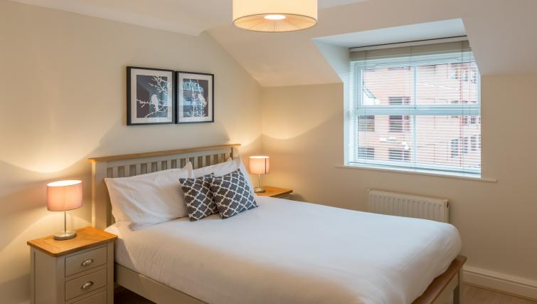 Comfortable bed at the Stanshawe Court Apartments - Citybase Apartments
