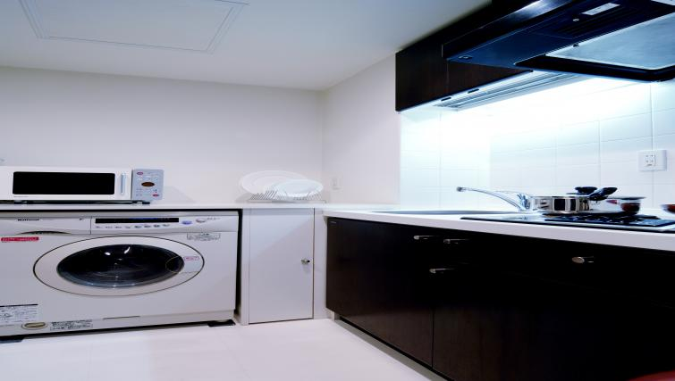 Kitchenette at Kioicho Apartment - Citybase Apartments
