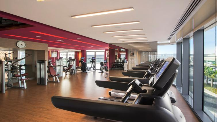 Fitness centre at Capital Centre Arjaan Apartments - Citybase Apartments
