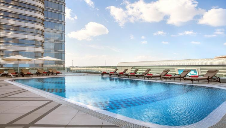 Swimming pool at Capital Centre Arjaan Apartments - Citybase Apartments