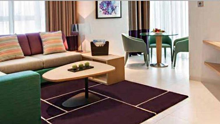 Living room at Capital Centre Arjaan Apartments - Citybase Apartments