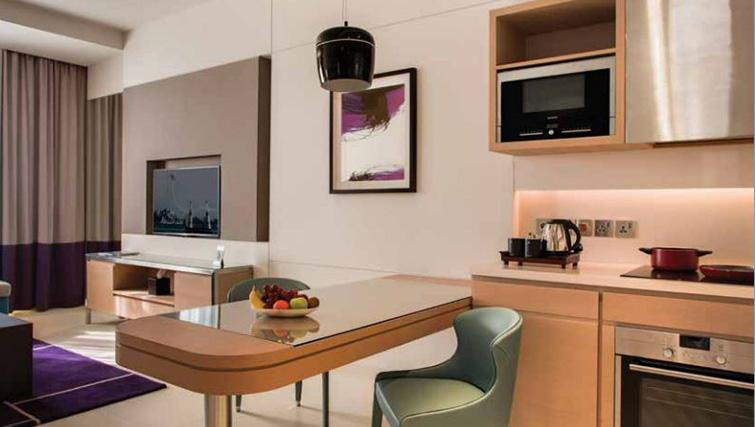 Kitchen at Capital Centre Arjaan Apartments - Citybase Apartments