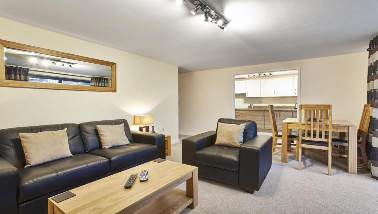 Living space at Jupiter Heights Apartments - Citybase Apartments