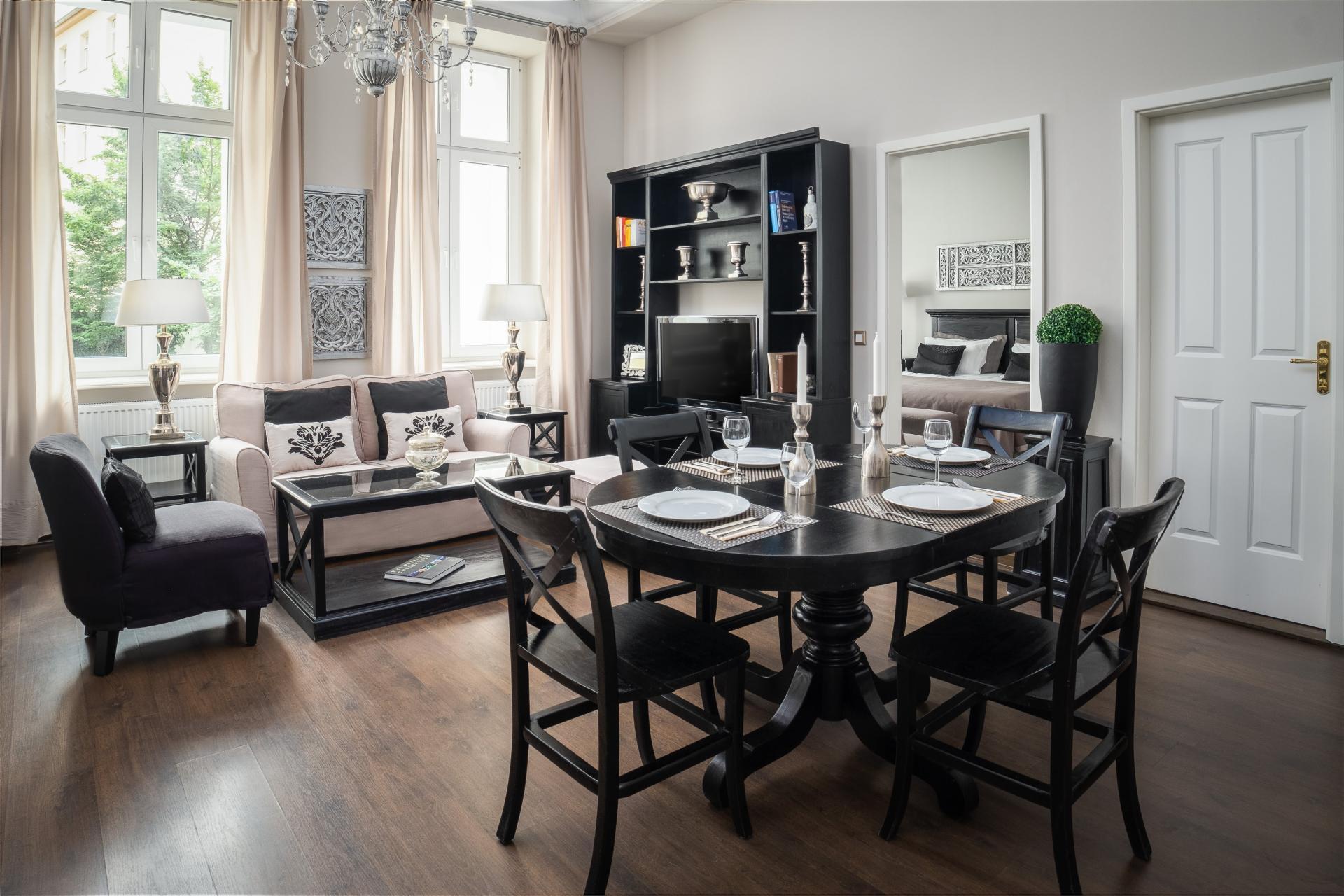 Dining area at  Palacina Berlin Apartments - Citybase Apartments
