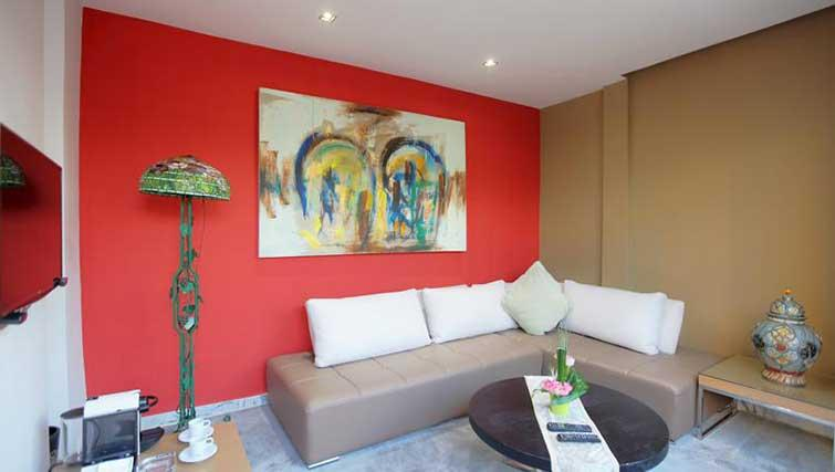 Living area at The Fourteen Apartments - Citybase Apartments