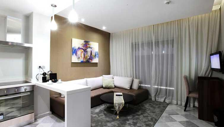 Living space at The Fourteen Apartments - Citybase Apartments