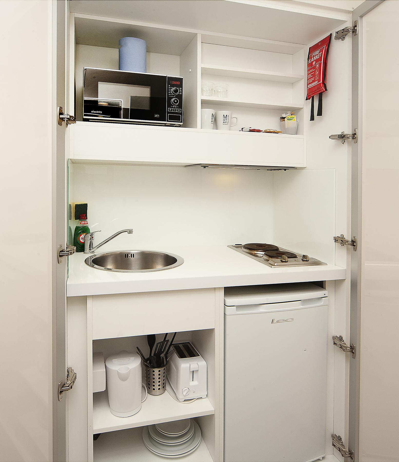 Kitchen facilities at 88 Studios Kensington - Citybase Apartments