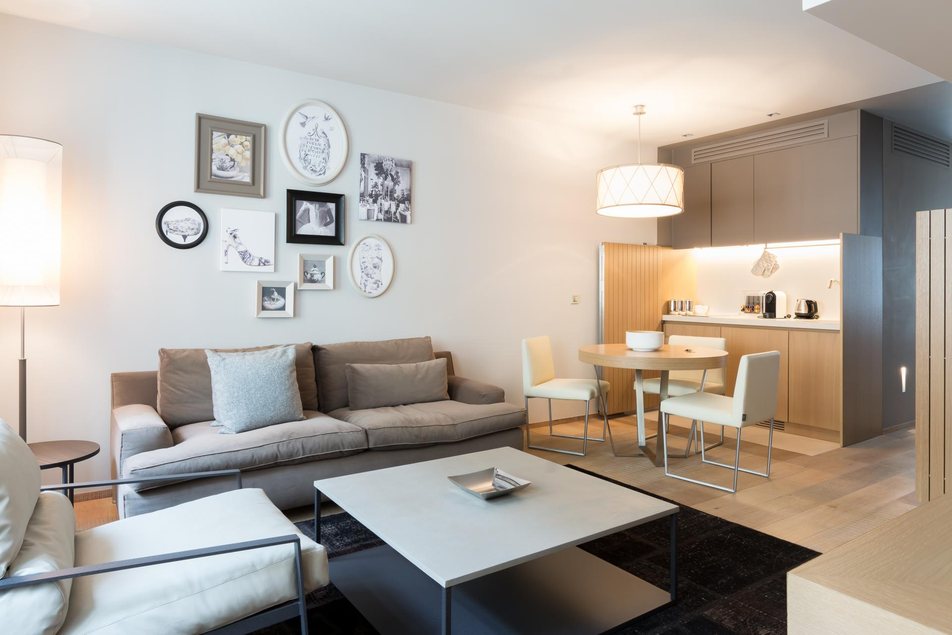 Sofa at Guillaume Suites - Citybase Apartments