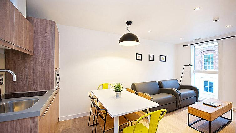 Compact dining area at Staycity Birmingham Newhall Square - Citybase Apartments