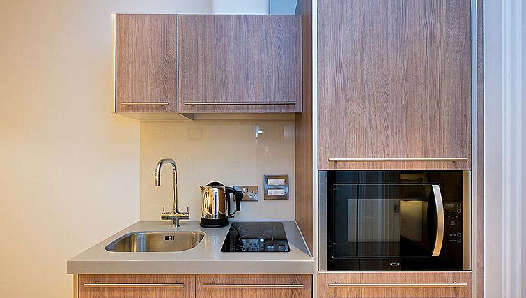 Well equipped kitchen at Staycity Birmingham Newhall Square - Citybase Apartments
