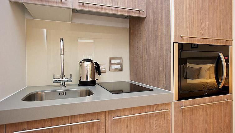 Kitchen facilities at Staycity Birmingham Newhall Square - Citybase Apartments