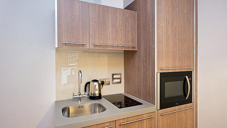 Kitchenette at Staycity Birmingham Newhall Square - Citybase Apartments