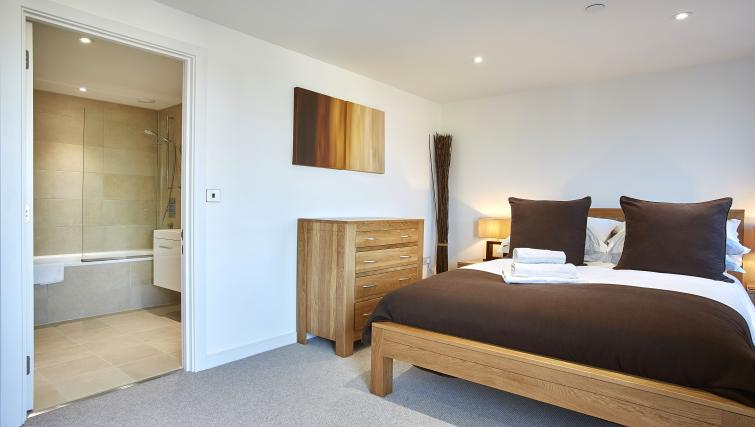 Double bed at The Hawkins Tower Apartments - Citybase Apartments