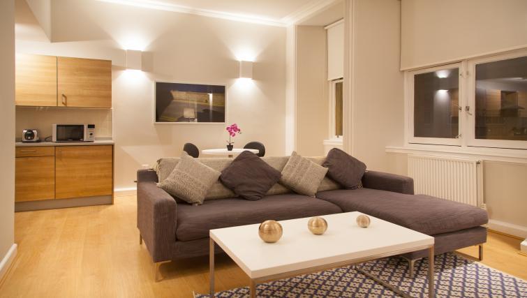 Sofa at Premier Suites Plus Glasgow - Citybase Apartments