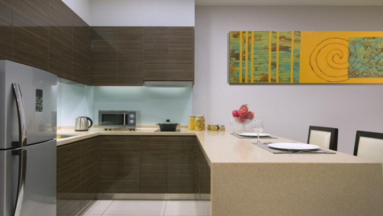 Kitchen at Somerset Puteri Harbour Apartments - Citybase Apartments