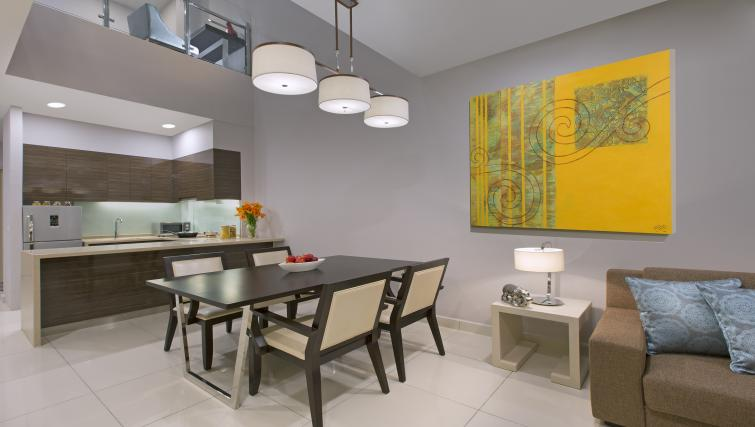Dining area at Somerset Puteri Harbour Apartments - Citybase Apartments
