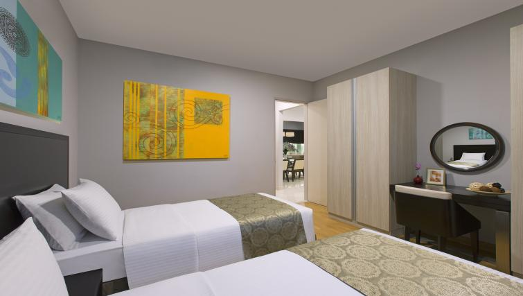 Twin bedroom at Somerset Puteri Harbour Apartments - Citybase Apartments