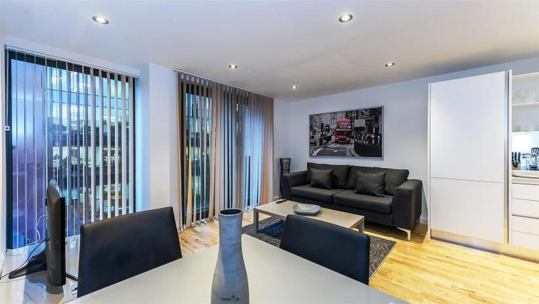 Modern living area at Flying Butler London Bridge Apartments - Citybase Apartments