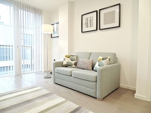 Sofa at Still Life Clerkenwell Deluxe - Citybase Apartments