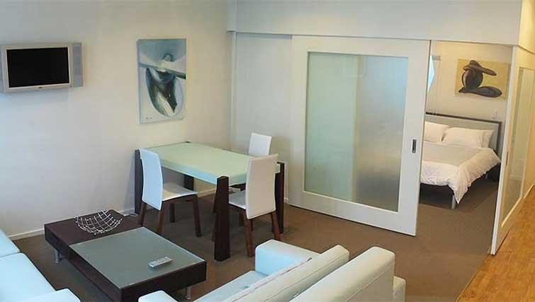 Dining area at Quest on Lambton - Citybase Apartments