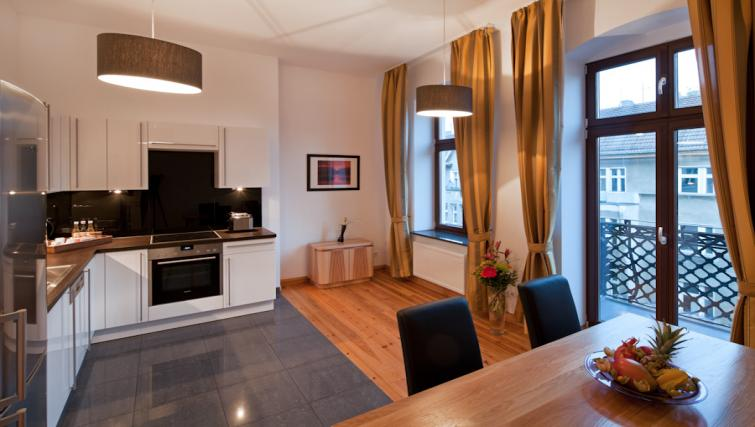 Kitchen in 2 bed at Luxoise Apartments - Citybase Apartments