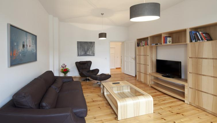 Living area in 2 bed at Luxoise Apartments - Citybase Apartments
