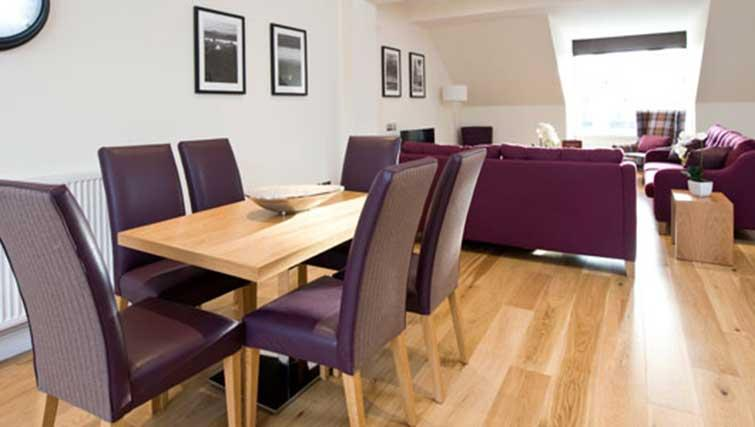 Dining area at Princes Street Residence - Citybase Apartments