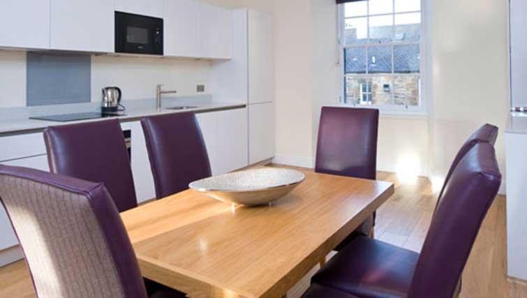 Dining table at Princes Street Residence - Citybase Apartments