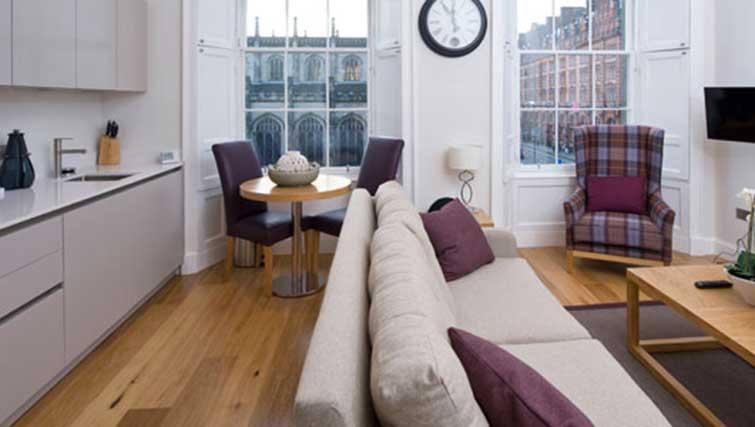 Living area at Princes Street Residence - Citybase Apartments