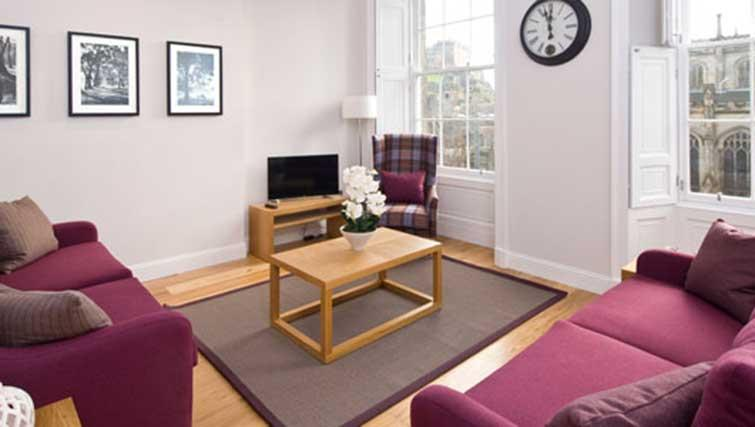 Living room at Princes Street Residence - Citybase Apartments